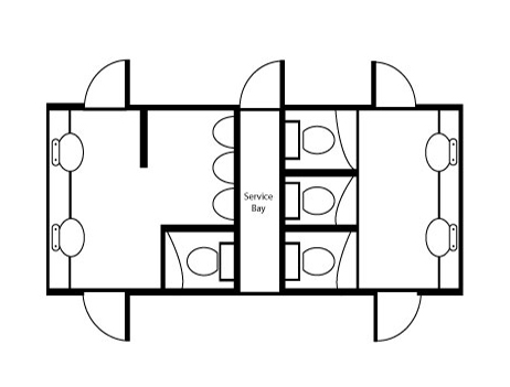 toilet block floor plan